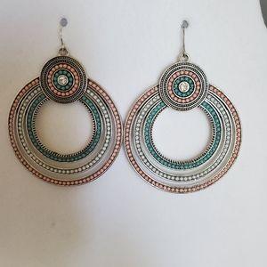 Premier Designs Large Round Multi-color Earrings